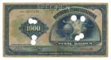 CEHOSLOVACIA 1000 KORUN COROANE 1932 SPECIMEN U