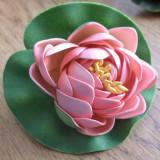 Nufar din spuma gumata pentru decoratiuni - roz
