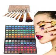 123123Trusa machiaj  farduri 120 culori SET 7 pensule Make-up, NAKED 5 URBAN DECAY