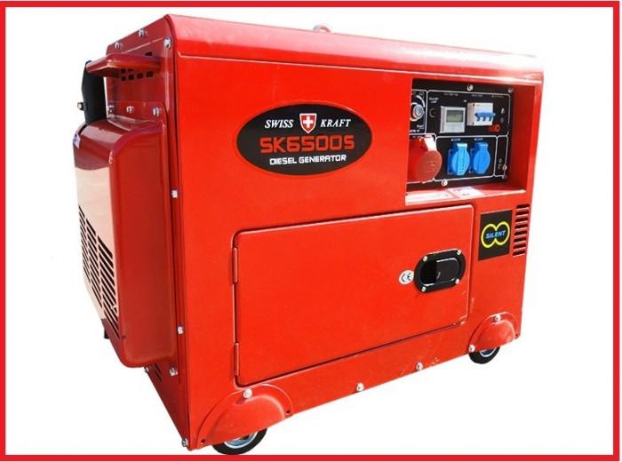 generator curent electric swiss kraft diesel 12v 220v 380v 5 5 kw generatoare industriale. Black Bedroom Furniture Sets. Home Design Ideas