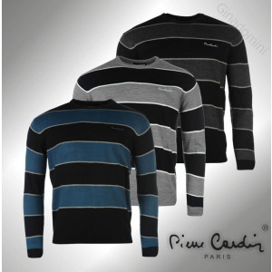 Bluza Pulover Barbati Pierre Cardin Big Stripe original - marimea L