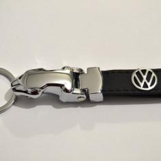 Breloc VW metal+piele - Breloc Auto Volkswagen