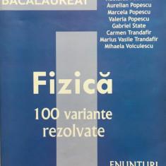 BACALAUREAT FIZICA 100 DE VARIANTE REZOLVATE - Doru Badiu - Teste Bacalaureat
