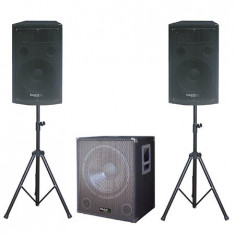 KIT SUBWOOFER 18 inch + 2 SATELITI 12inch + 2 STAND BOXA - Mixere DJ