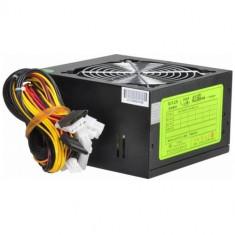 Delux Sursa Delux 500W, DELUX500W-V12, pasive PFC, ATX 12V 2.03, 12cm fan, neagra, 2xSATA, 2 x molex, lungime cablu alimentare 1.2m - Sursa PC