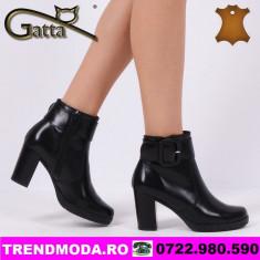 Ghete dama piele naturala GATTA gaucho negru (Marime: 40)