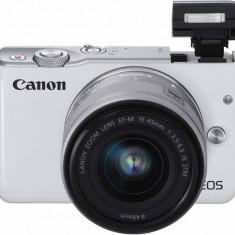 Kit aparat foto Canon EOS M10 (cu obiectiv de 15-45mm), alb - Aparat Foto compact Canon
