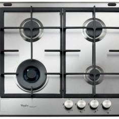 Plită încorporabilă Whirlpool GMF 6422/IXL, Argintiu, Numar arzatoare: 4, Gaz
