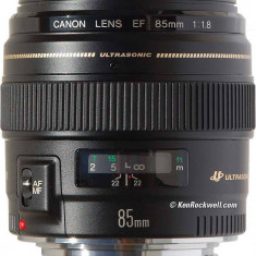 Obiectiv Canon EF 85mm f/1.8 U - Obiectiv DSLR Canon, Canon - EF/EF-S