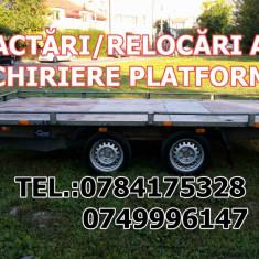 Tractari auto townig car relocari, transport pe platforma Timisoara