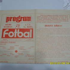 Program Dinamo - ASA Tg. Mures - Program meci