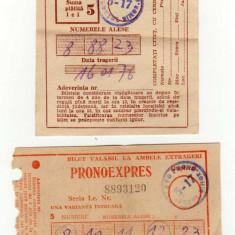 BILET LOTO SI PRONOEXPRES 1976