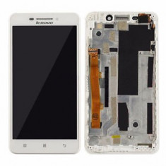 Ansamblu Display Ecran LCD Afisaj Touchscreen Digitizer Lenovo A5000 cu rama - Display LCD