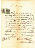 Document fiscal superb limba romana,10+3 Krajczar,1870,Targu Lapus Maramures 3, Nestampilat