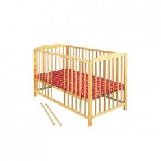 Patut Copii Din Lemn Radek Iv Natur - Patut lemn pentru bebelusi Klups, 120x60cm, Maro