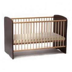 Patut Copii Lemn Fara Sertar Serena Wenge 5700 - Patut lemn pentru bebelusi MyKids