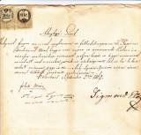 Document fiscal Kolozsvar Cluj 1862 30+6 kreuzer, Nestampilat
