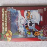 DVD desene animate copii Mos Craciun renul Rudolf cadou de Craciun NOU, Romana