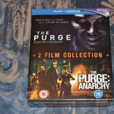 Film - The Purge / The Purge: Anarchy [2 Filme 2 Discuri Blu-Ray + UV], Import - Film thriller universal pictures, Engleza