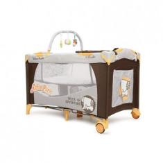 Patut Pliant Bebe Happy Baby Safari Park - Patut pliant bebelusi Moni, 120x60cm, Maro