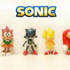 Figurine / jucarii - Set 6 figurine Sonic, Metal Sonic, Amy Rose, Super Sonic - Figurina Desene animate Altele