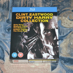 Film - Clint Eastwood: Dirty Harry Collection [5 Filme - 5 Discuri Blu-Ray], UK - Film actiune warner bros. pictures, Engleza