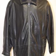 Geaca din piele neagra Hugo Boss originala - Geaca barbati, Marime: XL, Culoare: Negru