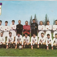 Foto fotbal - veche de colectie - echipa RAPID BUCURESTI (anii`60)