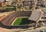Foto fotbal-carte postala 1975- Stadionul Nou Camp - FC BARCELONA