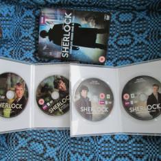 SHERLOCK HOLMES (4 DVD-uri ORIGINALE FILME SERIAL BBC 2012 - CA NOI!!!) - Film serial, Actiune, Engleza