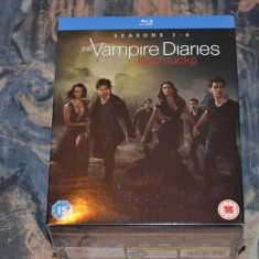 Film - Vampire Diaries - Sezoanele 1 - 6 [24 Discuri Blu-Ray], Import UK - Film serial warner bros. pictures, Fantastic, Engleza