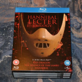 Film - The Hannibal Lecter Trilogy [3 Filme Blu-Ray 3 Discuri], Import UK - Film thriller universal pictures, Engleza