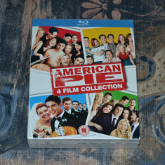 Film - American Pie Collection - 4 Filme [4 Blu-Ray Discs], Import UK - Film comedie warner bros. pictures, Engleza
