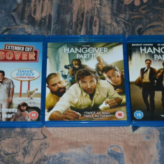 Film - The Hangover Trilogy [3 Filme - 4 Discuri Blu-Ray], import UK - Film comedie warner bros. pictures, Engleza