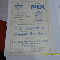Program Ceahlaul P.N. - Olimpia Rm. Sarat - Program meci