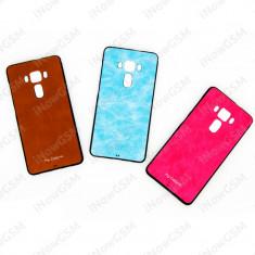 Husa protectie spate silicon texturat Asus Zenfone 3 Deluxe ZS570KL - Husa Telefon, Allview V1 Viper i, Albastru