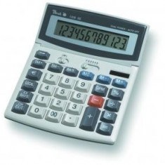 Calculator de birou PEACH PR662, display LCD ajustabil, solar + baterii - Calculator Birou