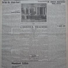 Cuvantul, ziar legionar, 11 Iunie 1933, artic. Mihail Sebastian, Nae Ionescu