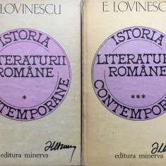 ISTORIA LITERATURII ROMANE - E. Lovinescu (vol I si III) - Studiu literar