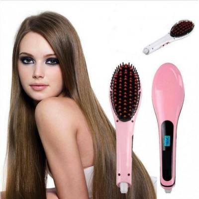 PLACA de par Perie ionica pentru indreptat parul Hair Straightener Brush foto