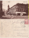 Brasov, Kronstadt  -   animata,   rara, cenzura WWI, Circulata, Printata