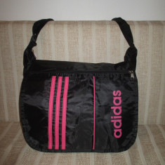 Geanta unisex Adidas neagra cu roz+CADOU