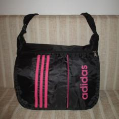 Geanta unisex Adidas neagra cu roz+CADOU - Geanta Barbati, Marime: Mare, Culoare: Din imagine
