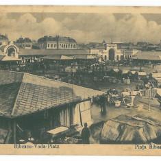 2853 - BUCURESTI, Market Bibescu-Voda - old postcard, CENSOR - used - 1918 - Carte Postala Muntenia 1904-1918, Circulata, Printata