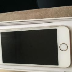 Vand iPhone 5S Apple gold codat orange 16 gb cutie+acte+casti, Auriu