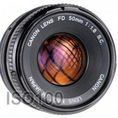 Canon FD 50mm F1.8 sn 1860986 - Obiectiv DSLR Canon, Standard, Manual focus