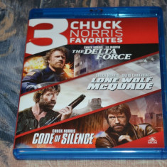 Film - Chuck Norris Favorites [3 Filme - 3 Discuri Blu-Ray] Remastered US Import - Film actiune mgm, Engleza