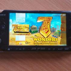 Consola PSP Sony 3000 MODATA PSP Sony SLIM MODAT Card 8 GB + 96 Jocuri Pe Carduri