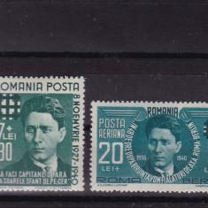ROMANIA 1940, LP 142 I, LP 142 II, ZELEA CODREANU, MNH, LOT 1 RO - Timbre Romania, Nestampilat