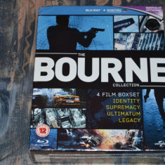 Film - The Bourne Collection [4 Filme - 4 Discuri Blu-Ray], Import UK - Film actiune universal pictures, Engleza